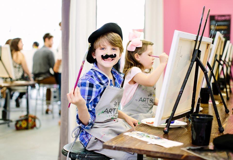 Wine and Design Weehawken Kid's Art Classes